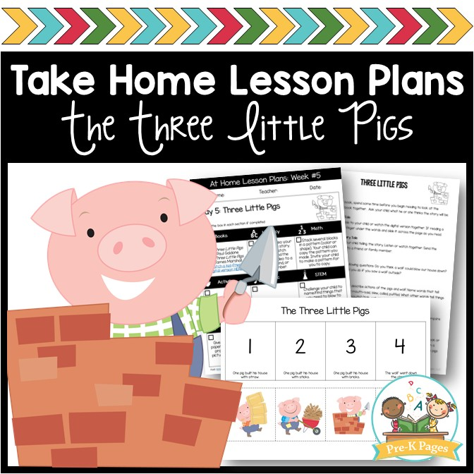 Week 5 Take Home Lesson Plans Three Pigs