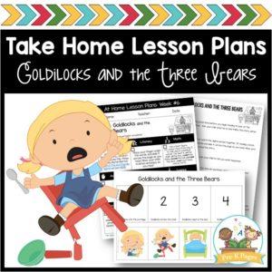 Take Home Lesson Plans Goldilocks
