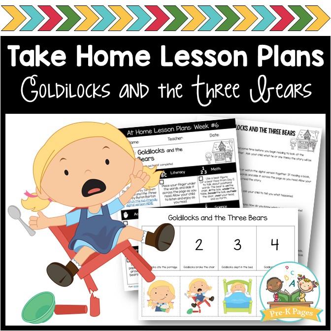 Goldilocks Take Home Lesson Plans Week 6