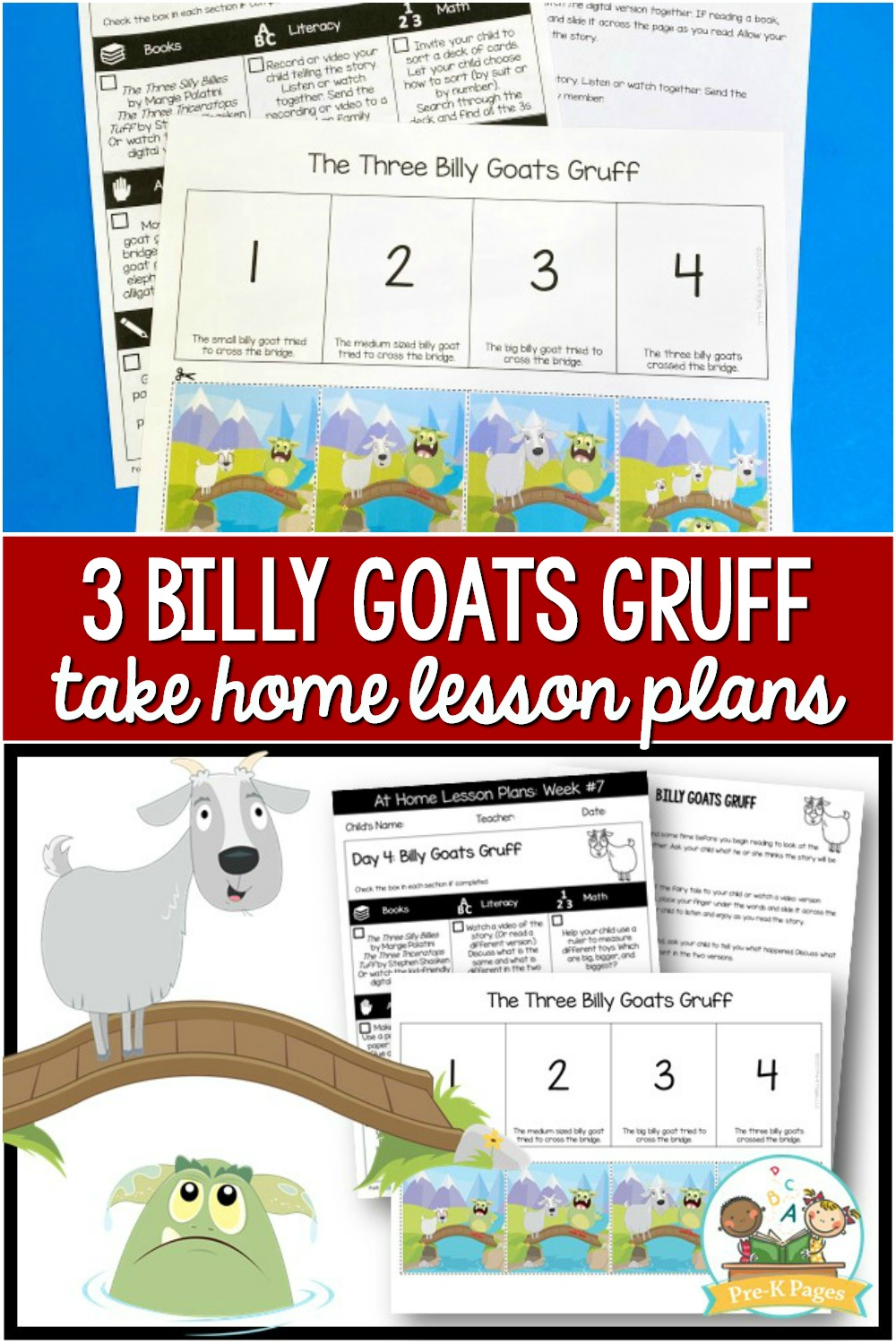 3 Billy Goats Gruff Lesson Plans