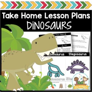 Take Home Lesson Plans Dinosaurs