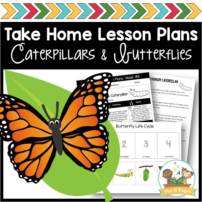 Preschool at Home Lesson Plans Caterpillars