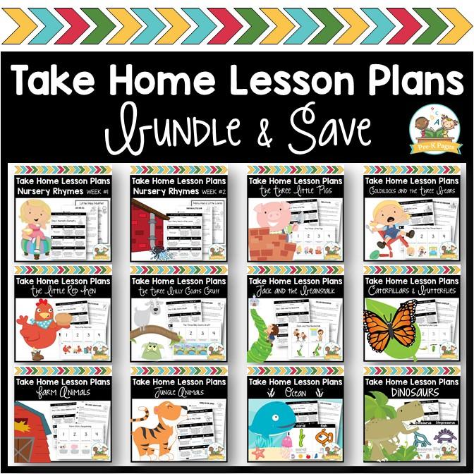 Preschool Take Home Lesson Plans Bundle