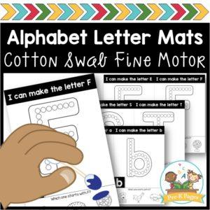 Fine Motor Alphabet: Dot Painting Letter Mats