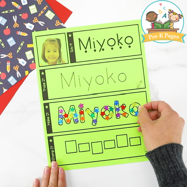 Editable Name Mats for Preschool Kids