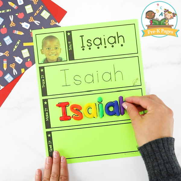 Editable Name Mats for Preschoolers