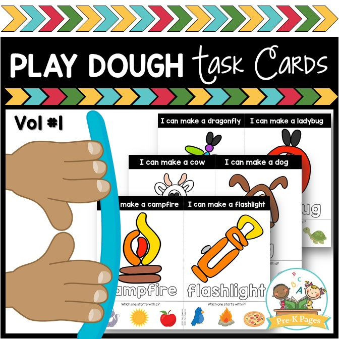 Play Dough Task Cards Vol 1