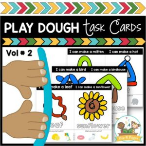 Fine Motor Skills: Play Dough Task Cards Vol 2
