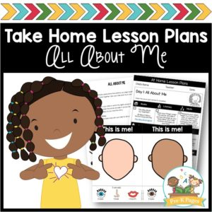 Take Home Lesson Plans – All About Me