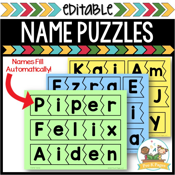 Editable Name Puzzles