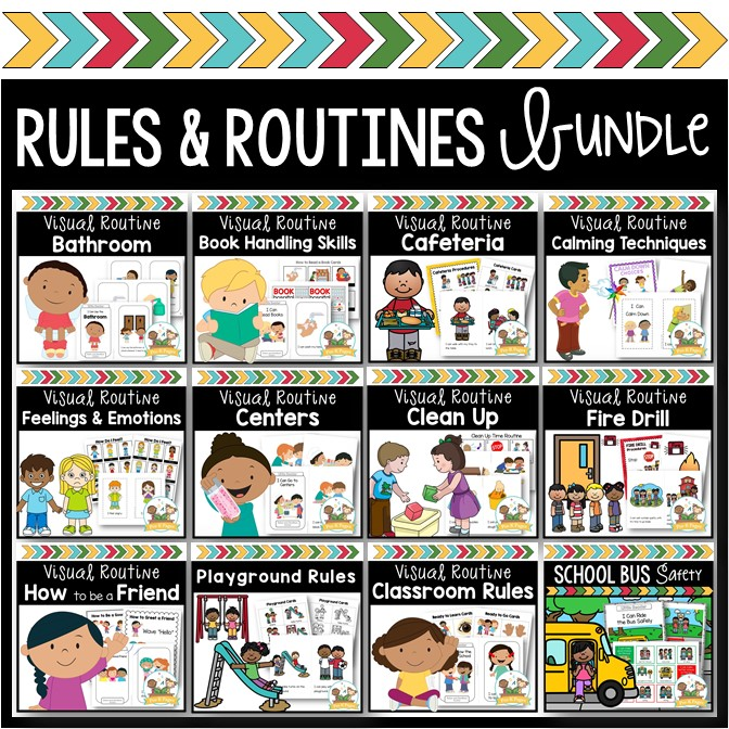 Rules and Routines Bundle for Preschool