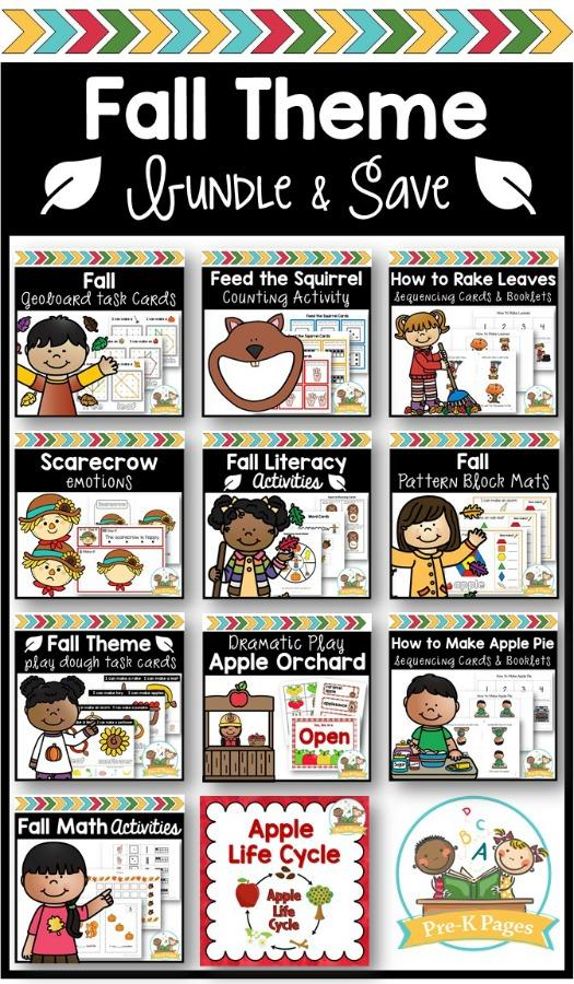 Fall Bundle for Preschool