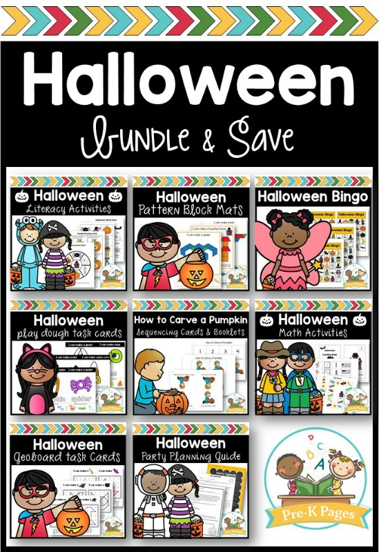 Halloween Activity Bundle for Preschool