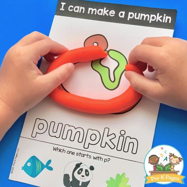 Making a Pumpkin with Playdough