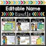 Name Activity Bundle for Preschool and Kindergarten