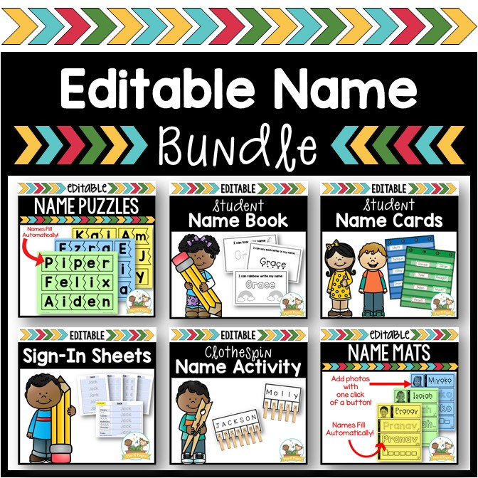 Name Activity Bundle for Preschool and Kindergarten