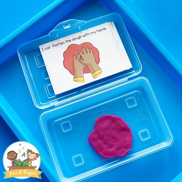 Play Dough Center Task Cards