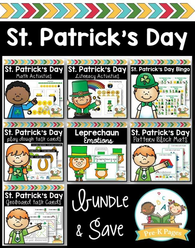 St Patricks Day Activity Bundle for Preschool