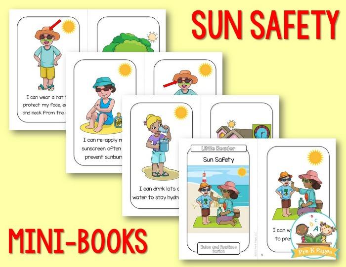 Sun Safety Mini Books for Preschool