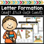 Craft Stick Alphabet Task Cards