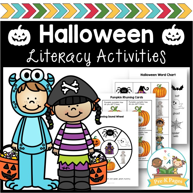 Halloween Literacy Activities for Preschool