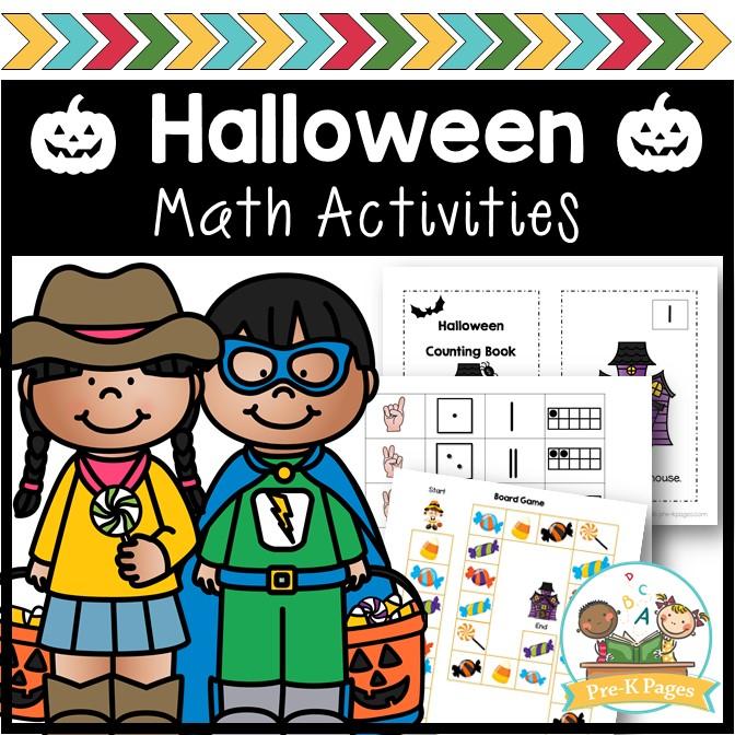 Halloween Theme Math Activities for Preschool