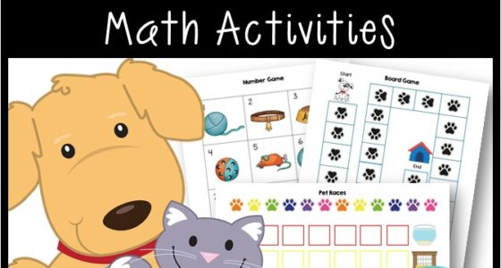 Pet Theme Math Activities