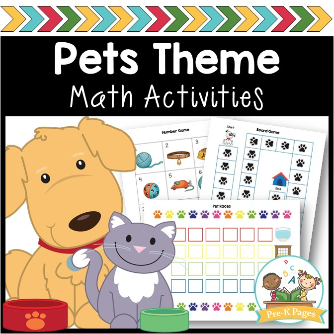 Pet Theme Math Activities for Preschool