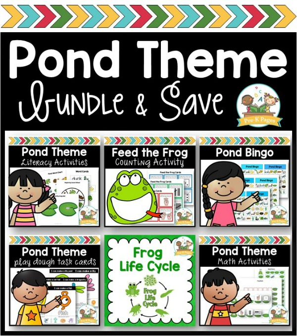 Pond Theme Activity Bundle for Preschool