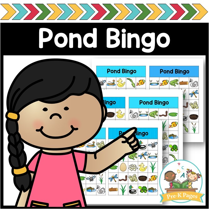 Printable Pond Theme Bingo Game