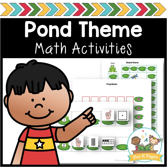 Pond Theme Math Activities for Preschool