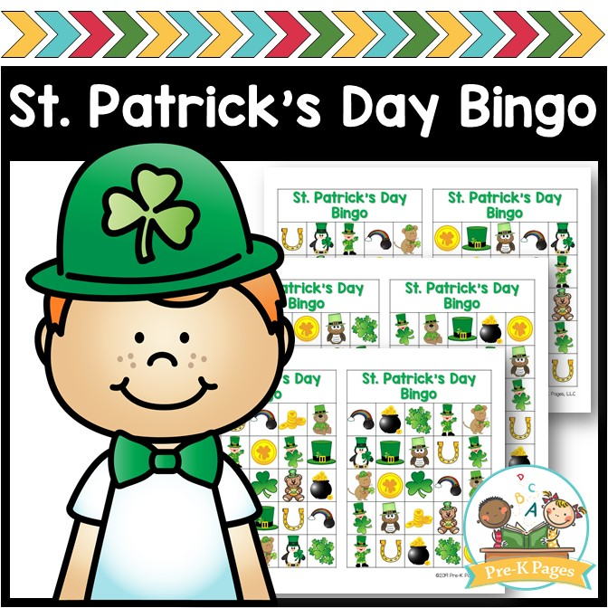 Printable Bingo Game for St Patricks Day