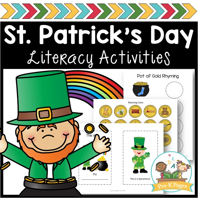 Literacy Activities for St Patricks Day in Preschool