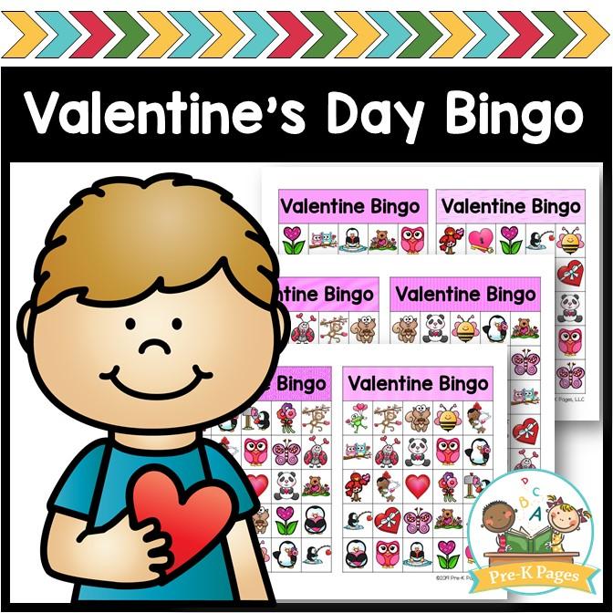 Printable Bingo Game for Valentines Day