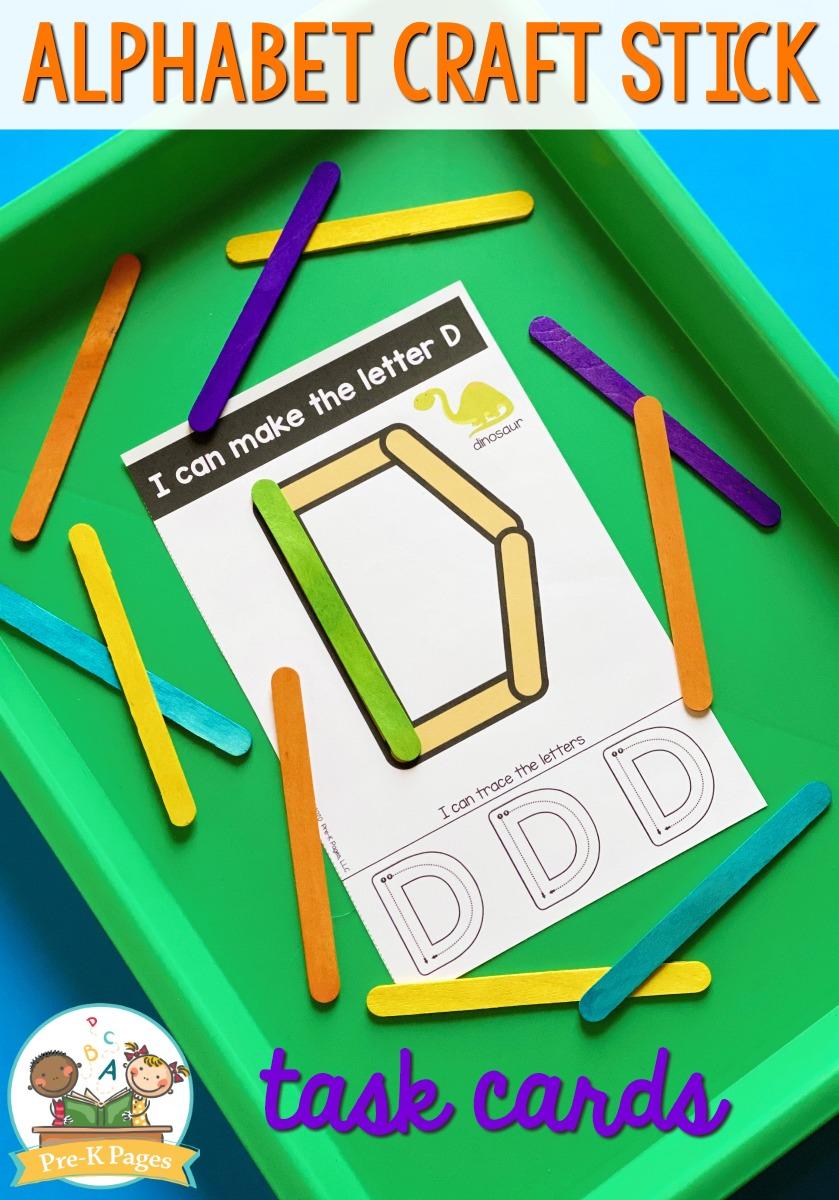 Alphabet Craft Stick Task Cards