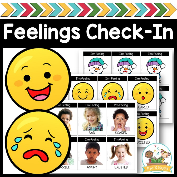 Feelings Check In for Preschool and Pre-K