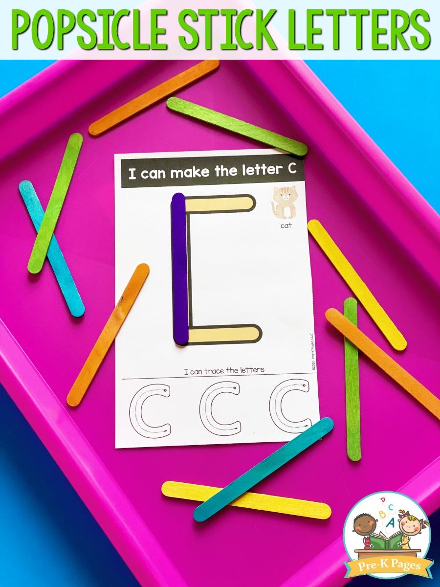 Popsicle Stick Letter Mats