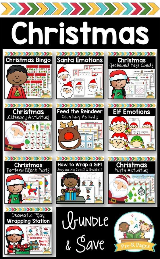 Christmas Theme Activity Bundle for Preschoolers