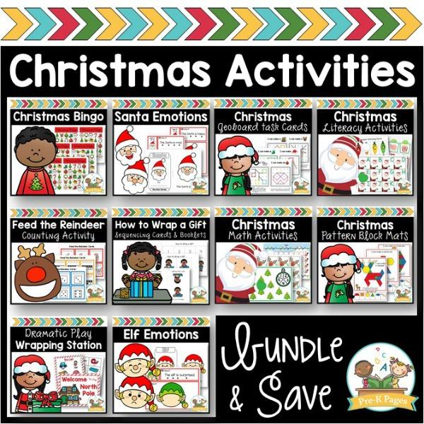 Christmas Activity Bundle for Preschool
