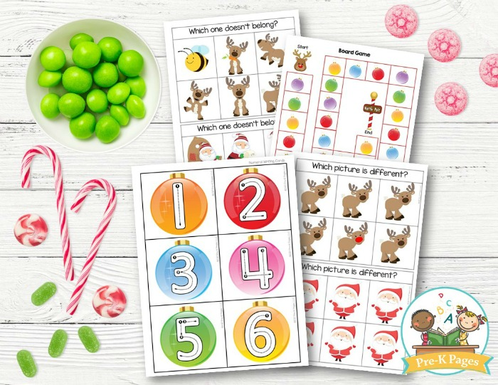 Christmas Themed Math Activities for Preschoolers