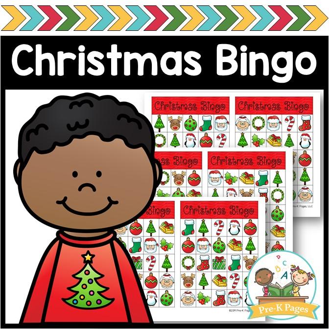 Printable Christmas Bingo for Preschool