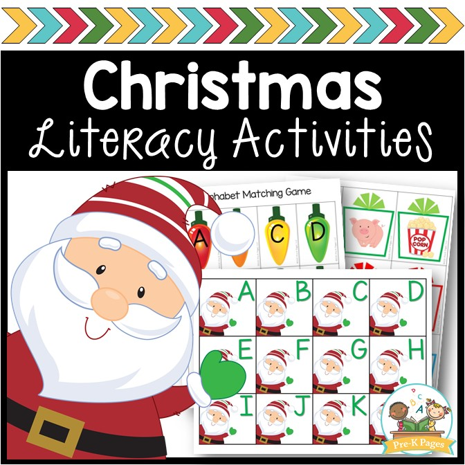 Christmas Theme Literacy Activities for Preschool