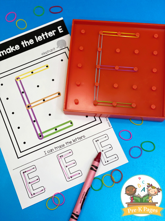 Alphabet letter task cards for use with geoboards
