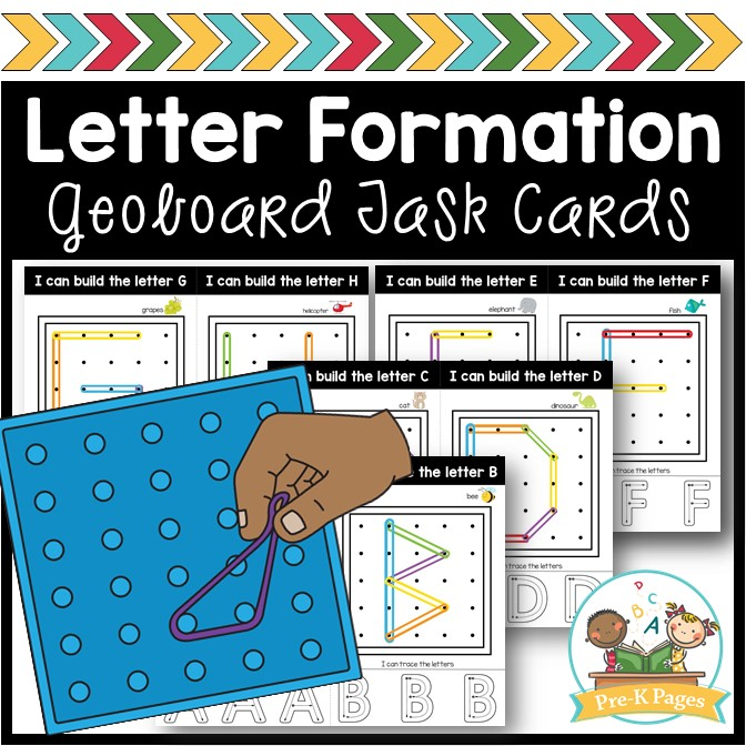 Letter Formation Alphabet Geoboard Cards