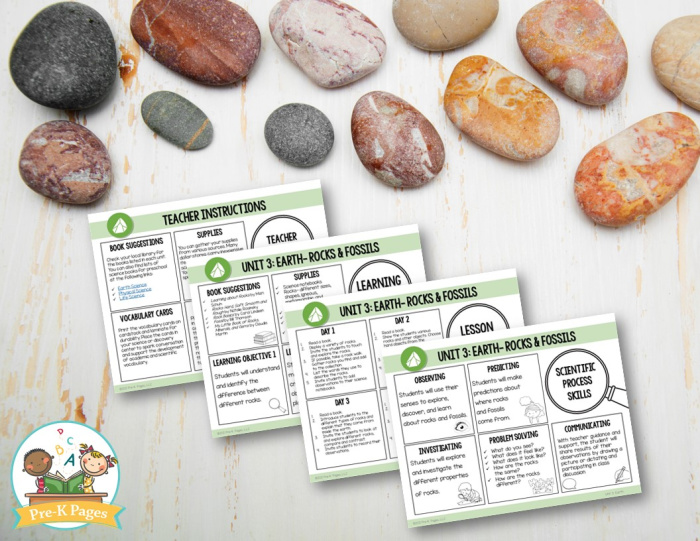 Rocks and Fossils Science Lesson Plans