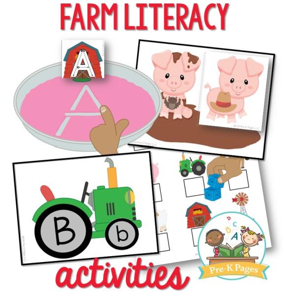 Farm Literacy Activities for Pre-K