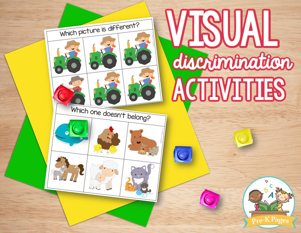 Farm Same and Different Activities; visual discrimination; what doesn't belong; differences