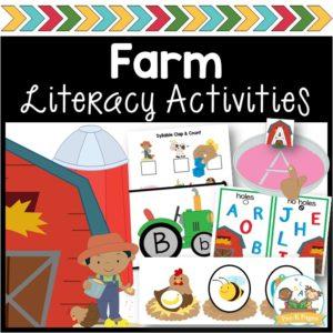 Farm Literacy Activities for Preschool and Pre-K