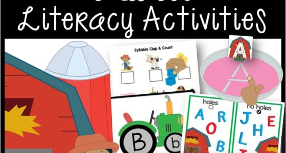 Farm Literacy Activities for Preschool and Pre-K
