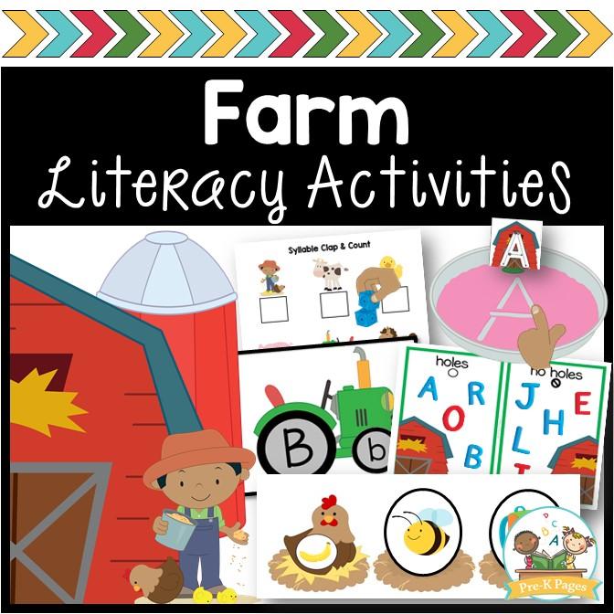 Farm Literacy Activities for Preschoolers
